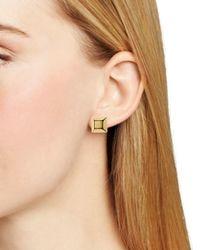 Diane von Furstenberg Metallic Cube Stud Earrings