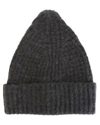 Bark - Gray Knit Beanie - Lyst