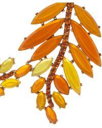 Oscar de la Renta | Orange Marquise Resin Leaf Necklace | Lyst