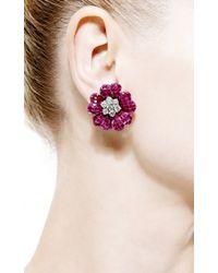 Simon Teakle - Purple Vintage Van Cleef & Arpels Ruby And Diamond Earrings - Lyst