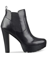 Guess | Black Women's Clay Platform Booties | Lyst