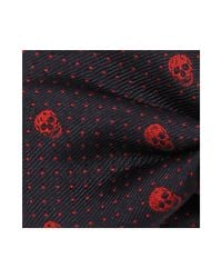 Alexander McQueen - Blue Skull Polka Dots Tie for Men - Lyst