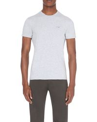 Armani Jeans | Gray Pack Of Two Cotton-jersey T-shirts for Men | Lyst