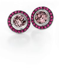 Fiorelli | Red Swarovski Elements Round Stud Earrings | Lyst