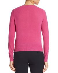 Lord & Taylor Purple Solid Cashmere Cardigan