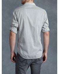John Varvatos - Gray Cotton Utility Shirt for Men - Lyst