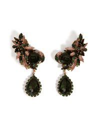Erickson Beamon - Metallic Queen Bee Ear Earrings in Green Chinoiserie - Lyst