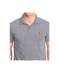 Polo Ralph Lauren | Blue Striped Performance Jersey Polo Shirt for Men | Lyst