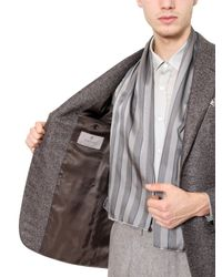 Canali Gray Wool And Silk Blend Jacket for men