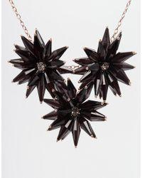Ted Baker - Black Floria Flower Starburst Necklace - Lyst