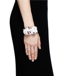 J.Crew - White Beaded Rope Knot Bracelet - Lyst