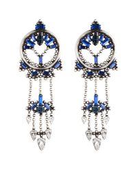 DANNIJO | Blue Claudia Earrings | Lyst