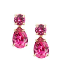 Kate Spade | Pink Fancy That Swarovski Crystal Drop Earrings | Lyst
