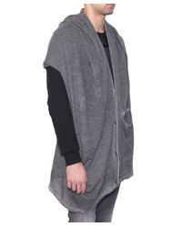 Tom Rebl - Gray Cardigan-Poncho Alpaca And Mohair Wool for Men - Lyst