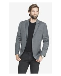 Express Modern Producer Gray Suit Jacket for men