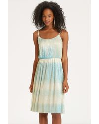 Oasis Natural Ombre Pleated Dress