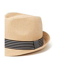 Forever 21 - Natural Stripe Straw Fedora - Lyst