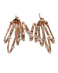 Mattia Cielo Pink Rugiada Hoop Earrings
