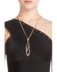 Alexis Bittar | Metallic Gold Plated Necklace With Crystals - Gold | Lyst