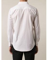 Julien David - White Pleated Placket Shirt for Men - Lyst