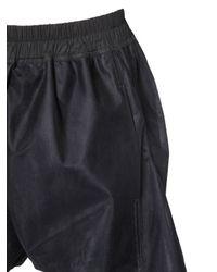 Rick Owens Black Draped Tulle Shorts