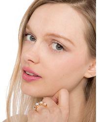 Pixie Market - Metallic Empress Pearl Ring Set - Lyst