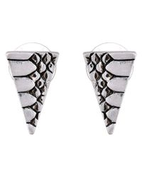 Sam Edelman | Metallic Snake Triangle Stud Earrings | Lyst