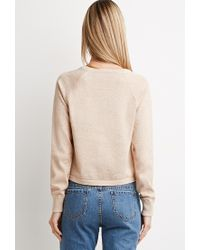 Forever 21 | Natural Metallic Knit Sweater | Lyst
