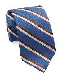 Michael Kors Blue Striped Silk Blend Tie for men