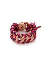 Marc By Marc Jacobs - Multicolor Corded Katie Bracelet Pink Multi - Lyst