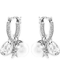 Swarovski Metallic Canvas Earrings