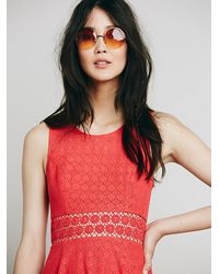 Free People | Red Womens Fitted With Daisies Dress | Lyst