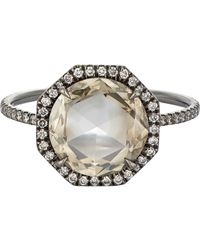 Mp Mineraux | Metallic Double-sided Diamond Ring-colorless | Lyst
