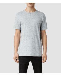 AllSaints Gray Midwest Crew T-Shirt for men