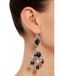Nina Runsdorf | Metallic One Of A Kind Black Diamond Chandelier Earrings | Lyst