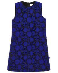 Victoria, Victoria Beckham - Blue Cobalt Guipure Lace Dress - Lyst