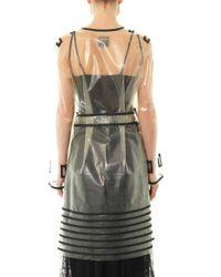 Jean Paul Gaultier Multicolor Transparent Stripedetail Coat