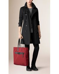 Burberry Red Reversible Lightweight Tote Bag for men