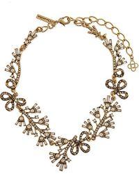 Oscar de la Renta - Metallic Russian Gold Crystal Baguette Necklace - For Women - Lyst