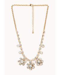 Forever 21 - Metallic Elegant Flower Necklace - Lyst