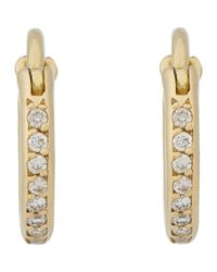 Ileana Makri | Metallic Diamond Huggie Hoops | Lyst