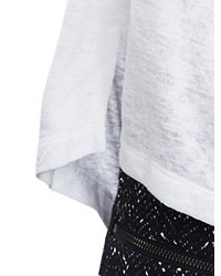 Banana Republic | White Slubbed High/low Tee | Lyst