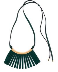 Marni | Green Fringe Detail Necklace | Lyst