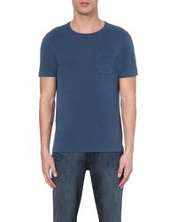 Outerknown Blue Chest-pocket Cotton-jersey T-shirt for men