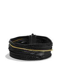 David Yurman - Black Sixteen-row Chain Bracelet With Gold - Lyst