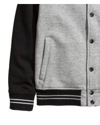 H&M Gray Baseball Jacket for men