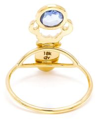 Daniela Villegas | Metallic Blue Sapphire Beetle Ring | Lyst