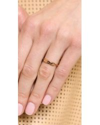 Marc By Marc Jacobs - Metallic Mmj Plaque Ring Rose Gold - Lyst