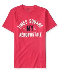 Aéropostale | Pink Times Square Logo Graphic T | Lyst