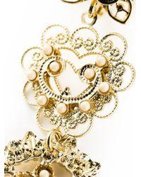 Isabel Marant | Metallic Floral Pattern Drop Earrings | Lyst
